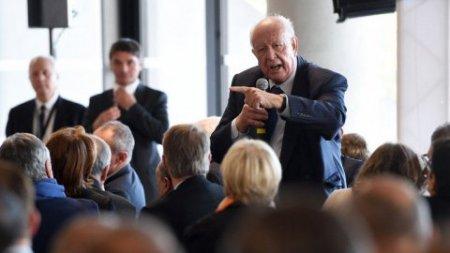 Jean-Claude Gaudin lors de son élection à la présidence de la métropole le 9 novembre 2015