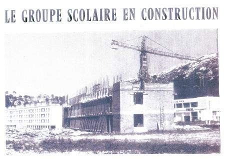 Construction du groupe scolaire Frédéric Mistral (source: site de la commune)
