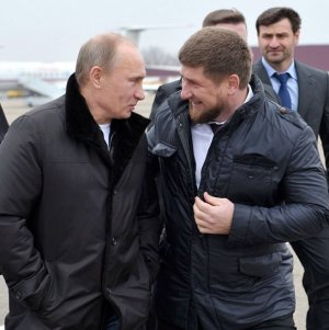 Ramzan Kadyrov et Vladimir Poutine
