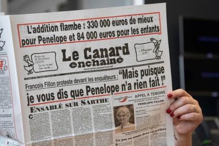 L'édition du Canard Enchaîné du 1er février 2016 qui accable François Fillon (photo AFP)